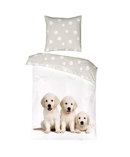 Aminata-Home Kinder-Bettwäsche 135x200 cm Hund