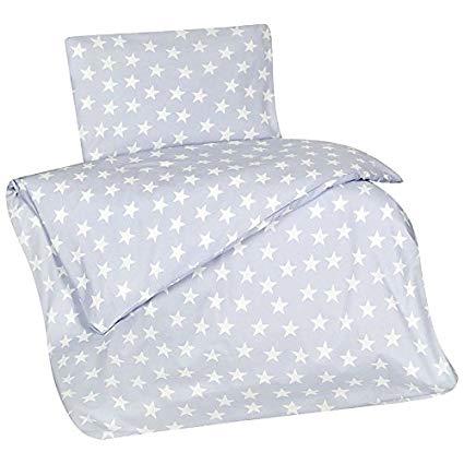 Aminata-Home Kinder-Bettwäsche Sterne