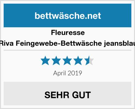 Fleuresse Riva Feingewebe-Bettwäsche jeansblau Test