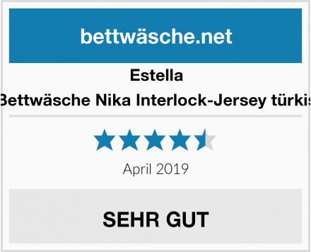 Estella Bettwäsche Nika Interlock-Jersey türkis Test