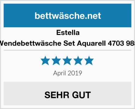 Estella Wendebettwäsche Set Aquarell 4703 985 Test