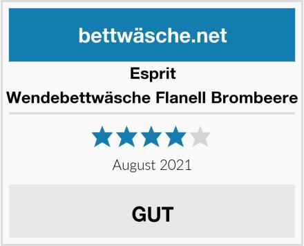 Esprit Wendebettwäsche Flanell Brombeere Test