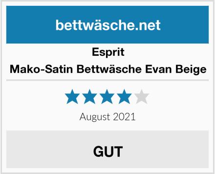Esprit Mako-Satin Bettwäsche Evan Beige Test