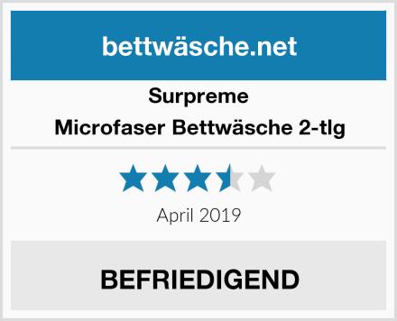 Surpreme Microfaser Bettwäsche 2-tlg Test