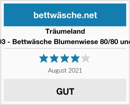 Träumeland TT09103 - Bettwäsche Blumenwiese 80/80 und 35/40 Test