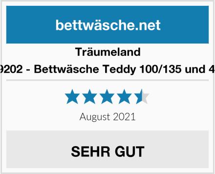Träumeland TT09202 - Bettwäsche Teddy 100/135 und 40/60 Test