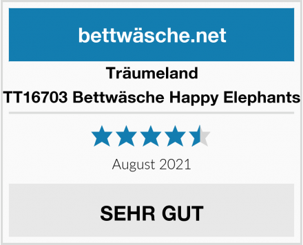 Träumeland TT16703 Bettwäsche Happy Elephants Test