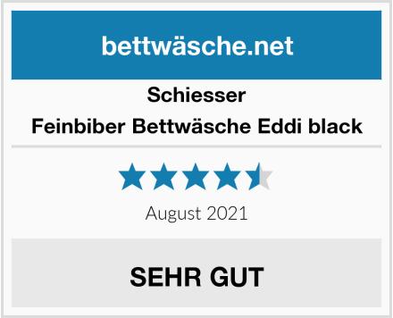 Schiesser Feinbiber Bettwäsche Eddi black Test