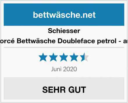 Schiesser Renforcé Bettwäsche Doubleface petrol - anthra Test
