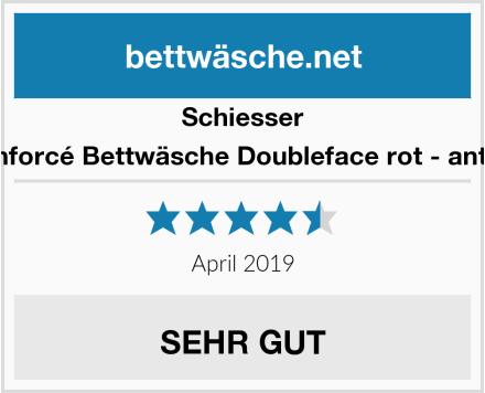 Schiesser Renforcé Bettwäsche Doubleface rot - anthra Test
