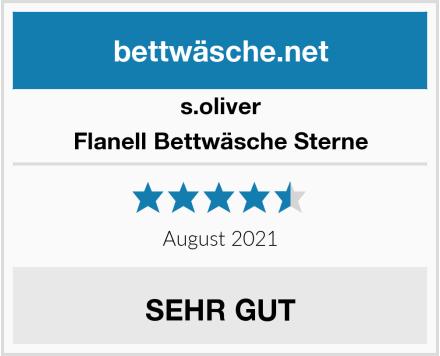 s.oliver Flanell Bettwäsche Sterne Test