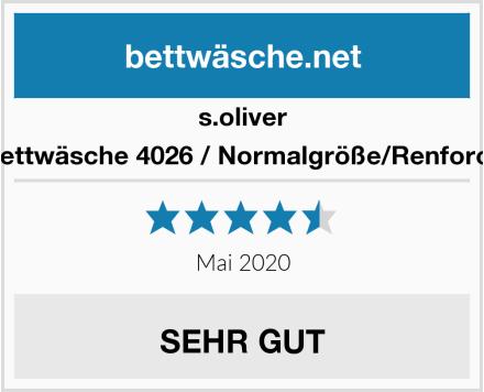 s.oliver Bettwäsche 4026 / Normalgröße/Renforce Test