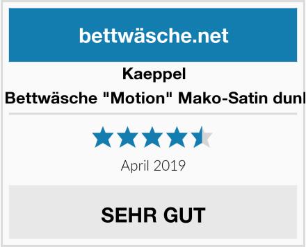 "Kaeppel Wende Bettwäsche ""Motion"" Mako-Satin dunkelgrau Test"