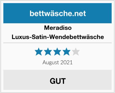 Meradiso Luxus-Satin-Wendebettwäsche Test