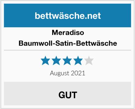 Meradiso Baumwoll-Satin-Bettwäsche Test