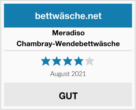 Meradiso Chambray-Wendebettwäsche Test