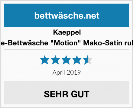 "Kaeppel Wende-Bettwäsche ""Motion"" Mako-Satin rubinrot Test"