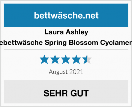 Laura Ashley Wendebettwäsche Spring Blossom Cyclamen Satin Test