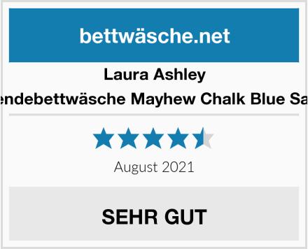 Laura Ashley Wendebettwäsche Mayhew Chalk Blue Satin Test