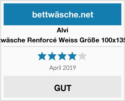 Alvi Bettwäsche Renforcé Weiss Größe 100x135 cm Test