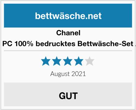 Chanel Allure 3 PC 100% bedrucktes Bettwäsche-Set Andrew Test