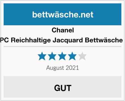 Chanel Allure 3 PC Reichhaltige Jacquard Bettwäsche Set Vera Test
