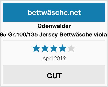 Odenwälder 2049-785 Gr.100/135 Jersey Bettwäsche viola Fische Test