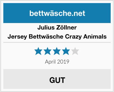 Julius Zöllner Jersey Bettwäsche Crazy Animals Test