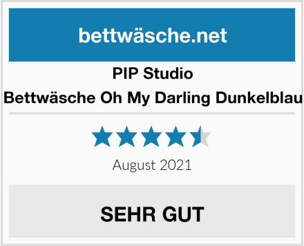 PIP Studio Bettwäsche Oh My Darling Dunkelblau Test