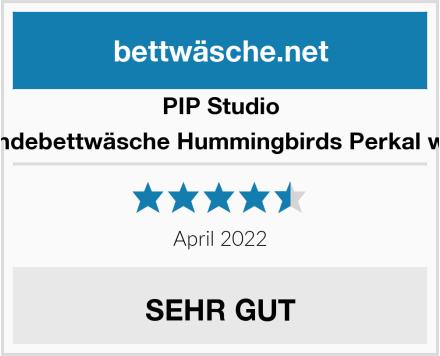 PIP Studio Wendebettwäsche Hummingbirds Perkal weiß Test