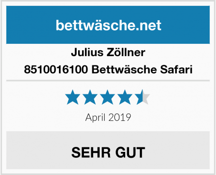 Julius Zöllner 8510016100 Bettwäsche Safari Test