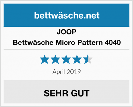 JOOP Bettwäsche Micro Pattern 4040 Test