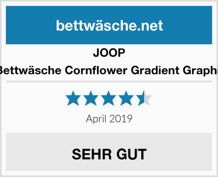 JOOP Bettwäsche Cornflower Gradient Graphit Test
