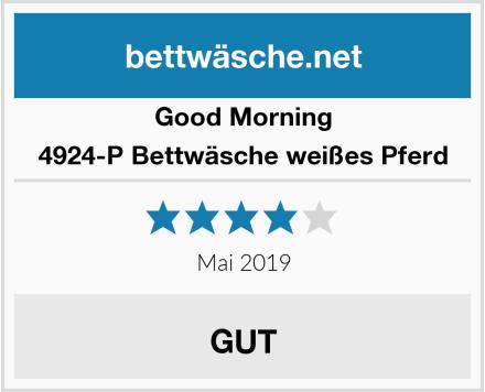 Good Morning 4924-P Bettwäsche weißes Pferd Test