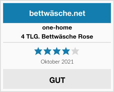 one-home 4 TLG. Bettwäsche Rose Test