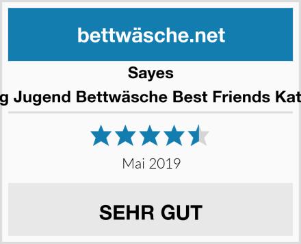 Sayes 2-tlg Jugend Bettwäsche Best Friends Katzen Test