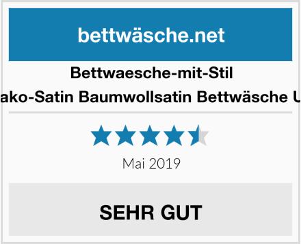 Bettwaesche-mit-Stil Mako-Satin Baumwollsatin Bettwäsche Uni Test