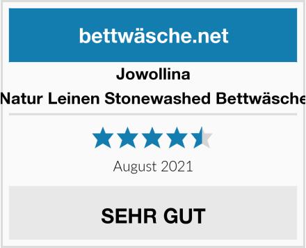 Jowollina Natur Leinen Stonewashed Bettwäsche Test