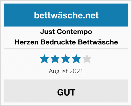 Just Contempo Herzen Bedruckte Bettwäsche Test