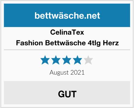 CelinaTex Fashion Bettwäsche 4tlg Herz Test