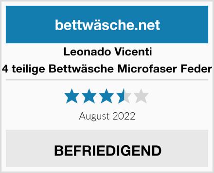 Leonado Vicenti 4 teilige Bettwäsche Microfaser Feder Test
