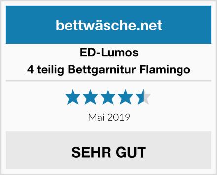 ED-Lumos 4 teilig Bettgarnitur Flamingo Test