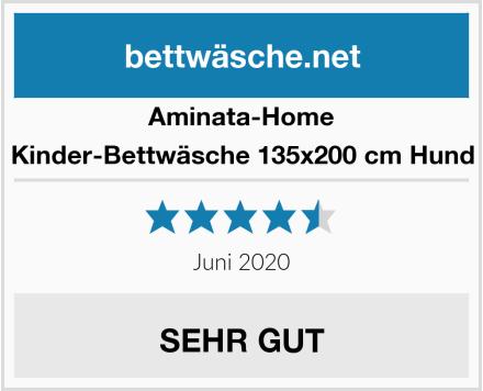 Aminata-Home Kinder-Bettwäsche 135x200 cm Hund Test
