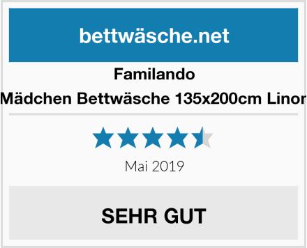 Familando Mädchen Bettwäsche 135x200cm Linon Test
