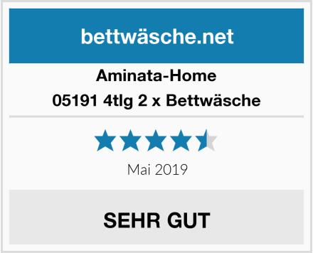 Aminata-Home 05191 4tlg 2 x Bettwäsche Test