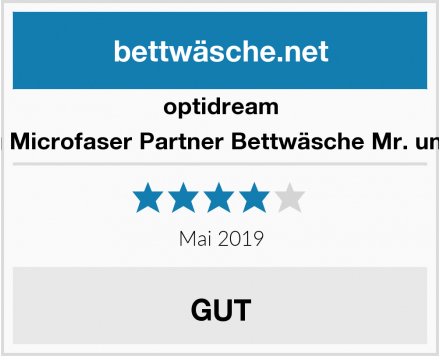 optidream 4 teilig Microfaser Partner Bettwäsche Mr. und Mrs. Test