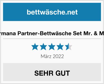 No Name termana Partner-Bettwäsche Set Mr. & Mrs. Test