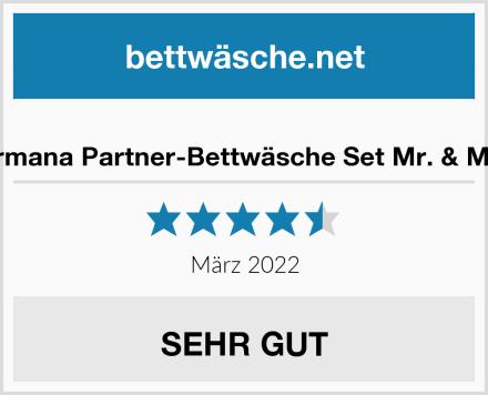 termana Partner-Bettwäsche Set Mr. & Mrs. Test