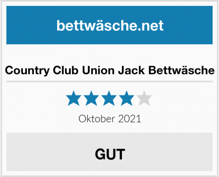 Country Club Union Jack Bettwäsche Test