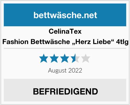 """CelinaTex Fashion Bettwäsche """"Herz Liebe"""" 4tlg Test"""